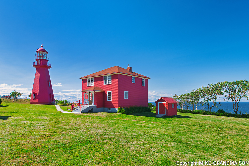 Ligthouse on the shore of the St. Lawrence River. Gaspesie Region<br />La Martre<br />Quebec<br />Canada