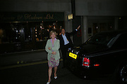 Earl and Countess of March and Kinrara. Party to celebrate Alfred Dunhill at the Goodwood Festival of Speed. Dunhill shop. 48 Jermyn St. London SW1. 9 June 2005. ONE TIME USE ONLY - DO NOT ARCHIVE  © Copyright Photograph by Dafydd Jones 66 Stockwell Park Rd. London SW9 0DA Tel 020 7733 0108 www.dafjones.com