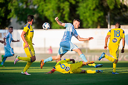 Andrej Kotnik of Gorica vs Gal Alberman of Maccabi during 2nd Leg football match between ND Gorica and Maccabi Tel Aviv FC (ISR) in First Qualifying Round of UEFA Europa League 2016/17, on July 7, 2016 in Sports park Nova Gorica, Slovenia. Photo by Vid Ponikvar / Sportida