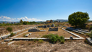 Ruins of the Heroon III. Miletus Archaeological Site, Anatilia, Turkey. .<br /> <br /> If you prefer to buy from our ALAMY PHOTO LIBRARY  Collection visit : https://www.alamy.com/portfolio/paul-williams-funkystock/miletus-site-turkey.html<br /> <br /> Visit our CLASSICAL WORLD HISTORIC SITES PHOTO COLLECTIONS for more photos to download or buy as wall art prints https://funkystock.photoshelter.com/gallery-collection/Classical-Era-Historic-Sites-Archaeological-Sites-Pictures-Images/C0000g4bSGiDL9rw