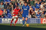 AFC Wimbledon midfielder Anthony Wordsworth (40) dribbling during the EFL Sky Bet League 1 match between AFC Wimbledon and Charlton Athletic at the Cherry Red Records Stadium, Kingston, England on 23 February 2019.
