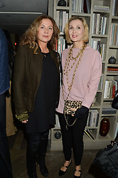 Left to right, SUSANNAH KAPOOR and ALLEGRA HICKS at a reception to celebrate the publication of The Shadow of The Crescent Moon by Fatima Bhutto at the Belgraves Hotel, 20 Chesham Place, London, on 2nd December 2013.