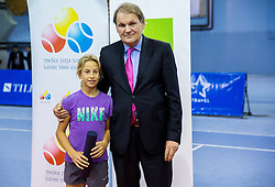 Marija Vicic and Marko Umberger, president of TZS at Tennis exhibition day and Slovenian Tennis personality of the year 2013 annual awards presented by Slovene Tennis Association TZS, on December 21, 2013 in BTC City, TC Millenium, Ljubljana, Slovenia.  Photo by Vid Ponikvar / Sportida