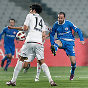 Istanbul BBS's Gokhan UNAL (R) during their Turkey Cup semi final soccer firsth match Istanbul BBS between Genclerbirligi at the Ataturk Olympic stadium in Istanbul Turkey on Thursday 07 April 2011. Photo by TURKPIX
