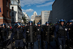 October 15, 2016 - Paris, France - Hundreds of persons gather in the street of Paris to complain against the violence of the French police. The demonstration starts at the place de la République to finish at the Stalingrad Metro, where migrants have been living under difficult conditions. (Credit Image: © Guillaume Pinon/Pacific Press via ZUMA Wire)