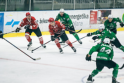 500th derbi between HK SZ Olimpija Ljubljana vs HDD SIJ Acroni Jesenice  - AHL 2019/20, on the 26th of  Oktober, Ljubljana, Slovenia. Photo by Matic Ritonja / Sportida