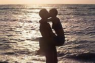 Couple kissing, Key Biscayne, Florida
