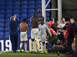 Cardiff City manager Neil Warnock (left) and his players acknowledge their travelling fans, after the Premier League match at Selhurst Park, south east London.