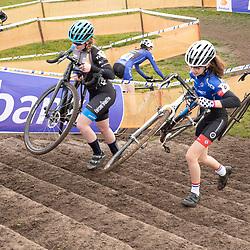 11-01-2020: Wielrennen: NK Veldrijden: Rucphen<br />Emma Brouwer, Kirsten Eliings