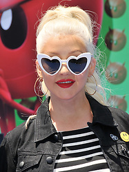 """Christina Aguilera arrives at """"The Emoji Movie"""" Los Angeles Premiere held at Regency Village Theatre in Westwood, CA on Sunday, July 23, 2017. (Photo By Sthanlee B. Mirador) *** Please Use Credit from Credit Field ***"""