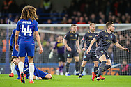 Sheffield Wednesday defender Sam Hutchinson (23) accidentally stamps on Chelsea midfielder Mateo Kovacic's (17) foot during the The FA Cup fourth round match between Chelsea and Sheffield Wednesday at Stamford Bridge, London, England on 27 January 2019.