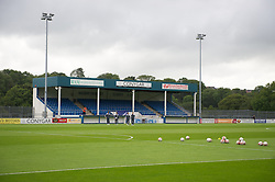 HAVERFORDWEST, WALES - Wednesday, August 10, 2011: A general view of Conygar Bridge Meadow Stadium home of Haverfordwest ahead of the Under-21 International Friendly between Wales U21 and Hungary U21. (Photo by Gareth Davies/Propaganda)
