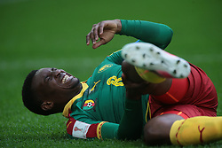 June 22, 2017 - Saint Petersburg, Russia - Benjamin Moukandjo of the Cameroon national football team reacts during the 2017 FIFA Confederations Cup match, first stage - Group B between Cameroon and Australia at Saint Petersburg Stadium on June 22, 2017 in St. Petersburg, Russia. (Credit Image: © Igor Russak/NurPhoto via ZUMA Press)