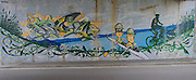 Varese. ITALY. Graffiti as you approach the Australian Institute of Sports -European Training Centre at Gavirate. on the shores Lake Varese  during the of 2013 FISA Masters Championships.  Tuesday  10/09/2013 [Mandatory Credit. Peter Spurrier/Intersport Images]