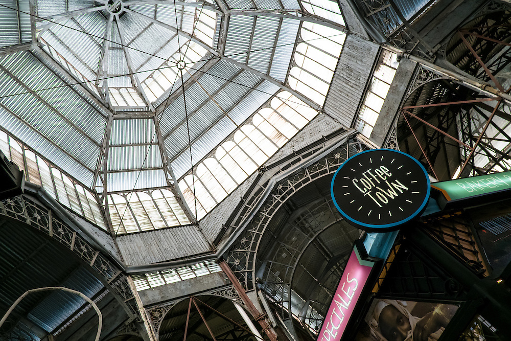 BUENOS AIRES - CIRCA NOVEMBER 2012: Dome of the famous San Telmo Market, established in 1897, Circa November 2012. The city is a very popular tourist destination with over 2.5 million yearly visitors and named a top destination by Travel+Leisure Magazine.