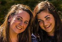 Teenaged girls, Littleton, Colorado USA.