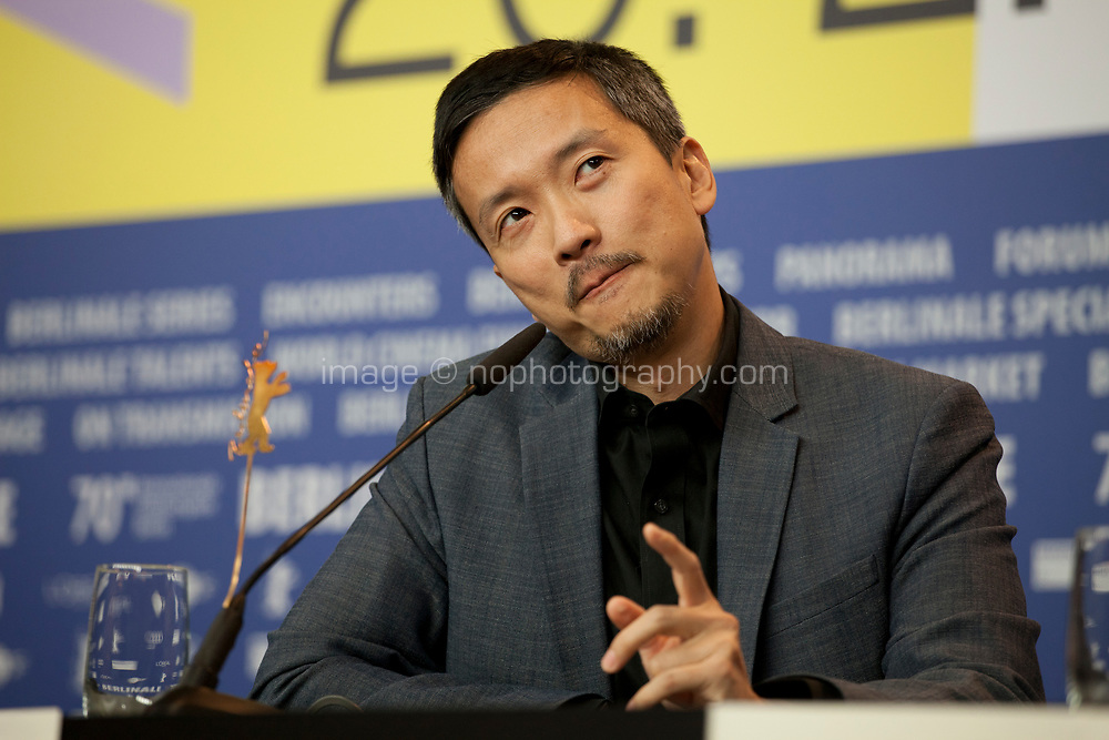 Actor Orion Lee at the press conference for the film First Cow at the 70th Berlinale International Film Festival, on Saturday 22nd February 2020, Hotel Grand Hyatt, Berlin, Germany. Photo credit: Doreen Kennedy