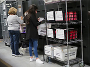 Election workers sort provisional ballots according to the reasons why they were cast to better understand why voters used this method. Most often in this election, it was because voters did not vote at their assigned precinct.