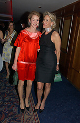 Left to right, ROSE VAN CUTSEM and LEONIE FRIEDA at the Boodles Boxing Ball in aid of the sports charity Sparks  organised by Jez lawson, James Amos and Charlie Gilkes held at The Royal Lancaster Hotel, Lancaster Terrae London W2 on 3rd June 2006.<br /> <br /> NON EXCLUSIVE - WORLD RIGHTS