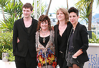 Samuel Theis, Angélique Litzenburger Claire Burger and Marie Amachoukeli at the photocall for the film Party Girl at the 67th Cannes Film Festival, Thursday 15th May 2014, Cannes, France.