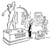 Rodin's Golfer
