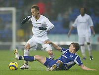 Photo: Aidan Ellis.<br /> Bolton Wanderers v Zenit St Petersburg. UEFA Cup. <br /> 03/11/2005.<br /> Bolton's Hidetoshi Nakata is challenged by Velice Sumulikoski