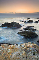Sunset over the rugged coast of Big Sur, Garrapata State Park California
