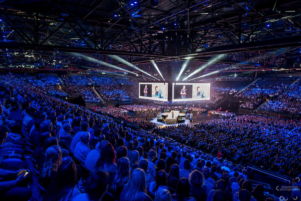 Genting Arena Set up in the round for corporate Meeting, photographed for NEC marketing.<br /> ©Stonehouse Photographic