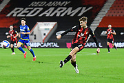 David Brooks (7) of AFC Bournemouth crosses the ball during the EFL Sky Bet Championship match between Bournemouth and Nottingham Forest at the Vitality Stadium, Bournemouth, England on 24 November 2020.