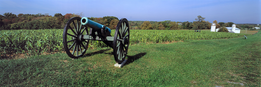 An old cannon is a reminder of the fierce battle that took place near at Antietam National Battlefield, Maryland.