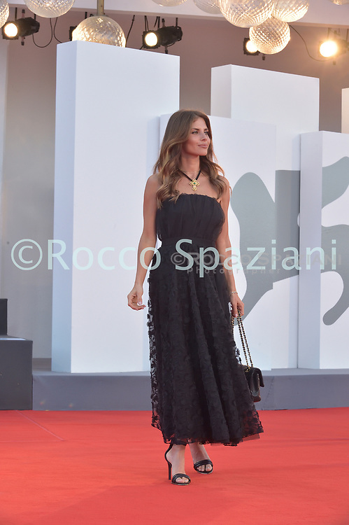 """VENICE, ITALY - SEPTEMBER 11: Weronika Rosati walks the red carpet ahead of the movie """"Nomadland"""" at the 77th Venice Film Festival on September 11, 2020 in Venice, Italy. (<br /> (Photo by Rocco Spaziani)"""