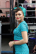 13 September-Brooklyn, New York: Recording Artist Andra Day attends the Essence Street Style Block Party held at The Dumbo Archway Under the Manhattan Bridge on September 13, 2015 in the DUMBO section of Brooklyn, New York.   (Photo by Terrence Jennings/terrencejennings.com)