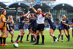 Warriors Women celebrate a try - Mandatory by-line: Nick Browning/JMP - 24/10/2020 - RUGBY - Sixways Stadium - Worcester, England - Worcester Warriors Women v Wasps FC Ladies - Allianz Premier 15s