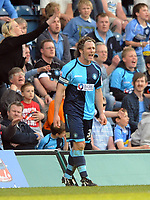 Wycombe Wanderers/Swindon Town Coca Cola League 1 24.04.10<br /> Photo: Tim Parker Fotosports International<br /> Gareth Ainsworth Captain Wycombe dejection