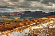 HDR image of the view from Cairn Gorm, the site of the world's smallest ski slope.