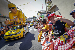 July 8, 2018 - La Roche-Sur-Yon, France - fans at the start of stage 2 of the 105th edition of the 2018 Tour de France cycling race, a stage of 182.5 kms between Mouilleron - Saint-Germain and La Roche-Sur-Yon on July 08, 2018 in La Roche-Sur-Yon, France, 8/07/18 (Credit Image: © Panoramic via ZUMA Press)