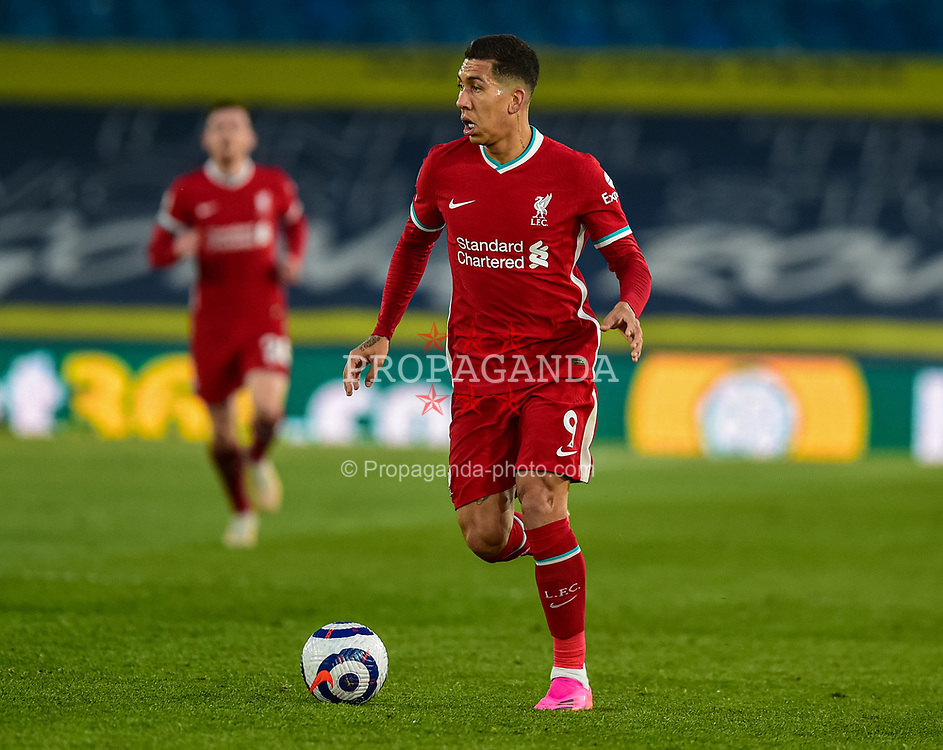 LEEDS, ENGLAND - Monday, April 19, 2021: Liverpool's Roberto Firmino during the FA Premier League match between Leeds United FC and Liverpool FC at Elland Road. (Pic by Propaganda)