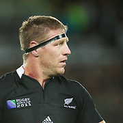 Brad Thorn, New Zealand,  during the New Zealand V Australia Semi Final match at the IRB Rugby World Cup tournament, Eden Park, Auckland, New Zealand, 16th October 2011. Photo Tim Clayton...