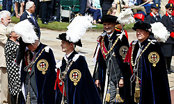 The Duke of York, the Earl of Wessex, Spain's King Felipe and Dutch King Willem-Alexander during the annual Order of the Garter Service at St George's Chapel, Windsor Castle.