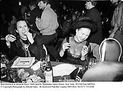 Beat Hellstein & Deborah Harry. Diffa benefit. Manhattan Opera House. New York. 26/2/94 Film 9492f34<br />© Copyright Photograph by Dafydd Jones<br />66 Stockwell Park Rd. London SW9 0DA<br />Tel 0171 733 0108