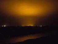 Lichtvervuiling bij glastuinbouw Sexbierum.