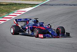 February 28, 2019 - Barcelona, Spain - the Toro Rosso of Alexander Albon during the Formula 1 test in Barcelona, on 28th February 2019, in Barcelona, Spain. Photo: Joan Valls/Urbanandsport /NurPhoto. (Credit Image: © Joan Valls/NurPhoto via ZUMA Press)