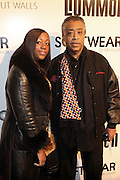 l to r: Dominique Sharpe and Rev. Al Sharpton at the Common Celebration Capsule Line Launch with Softwear by Microsoft at Skylight Studios on December 3, 2008 in New York City..Microsoft celebrates the launch of a limited-edition capsule collection of SOFTWEAR by Microsoft graphic tees designed by Common. The t-shirt  designs. inspired by the 1980's when both Microsoft and and Hip Hop really came of age, include iconography that depicts shared principles of the technology company and the Hip Hop Star.