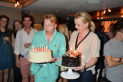 HENRY CONWAY and SOPHIE MICHELL at Henry Conway's 31st birthday party held at the Pont St Restaurant, Belgraves Hotel, London on 12th July 2014.