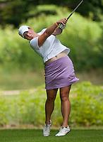 Carrie Riordan during LPGA Futures Tour Saturday, July 23rd.  (Karen Bobotas/for the Concord Monitor)