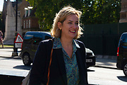 Amber Rudd walking in Westminster , London, United Kingdom on 12th September 2019. At the weekend Amber Rudd resigned from the Cabinet and surrendered the Conservative party whip in anger at not enough work going into leaving the EU with a deal.