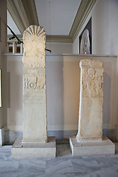 Greco-Persian Funerary Stele. Fifth century BC. From Daskylaion (Aksakal, Manyas), Istanbul Archaeology Museum