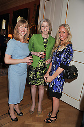 Left to right, RUTH SULLIVAN, The Home Secretary THERESA MAY and ROSIE NIXON at a reception for Women in Media hosted by the Prime Minister David Cameron at 10 Downing Street, London on16th May 2013.