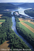 Southcentral Pennsylvania, Aerial Photographs, Farmlands, Cultivation and River, Juniata River, Susquehanna River, Perry Co., PA