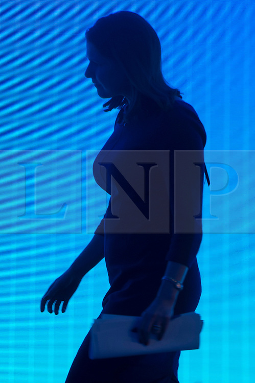 © Licensed to London News Pictures. 18/11/2019. London, UK. British Liberal Democrat party leader Jo Swinson leave the stage after making a speech at the annual Confederation of British Industry annual conference. Photo credit: Ray Tang/LNP